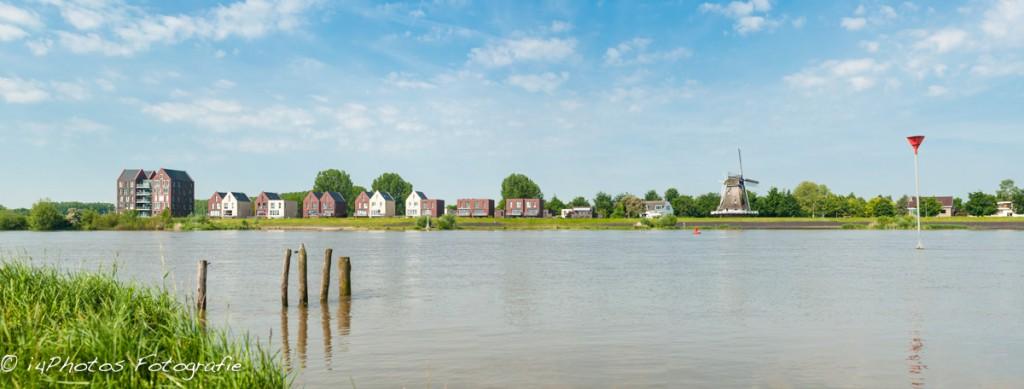 Panorama IJsselfront Omloop te Kampen