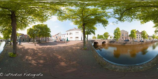 360 graden panorama Burgwal te Kampen