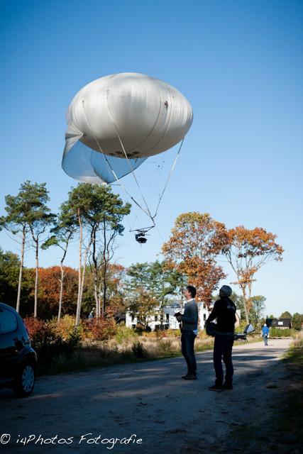 In actie met kabelballonsysteem