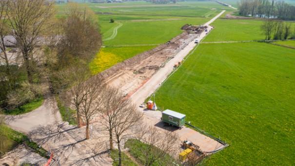 Werkzaamheden verdiepen gasleiding door Bohlen & Doyen