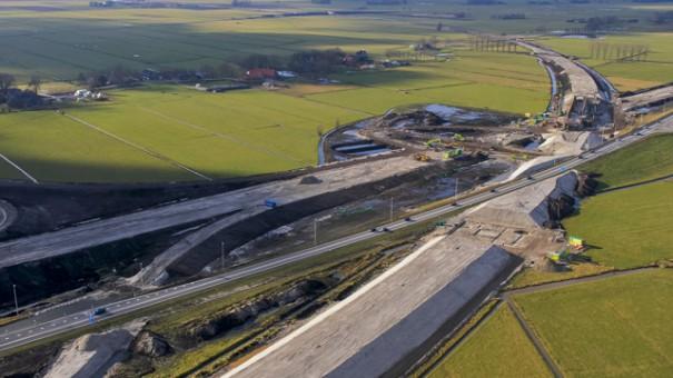 Hanzelijn en N50 nabij Kampen